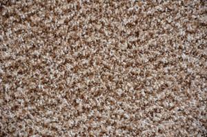 Cache Beige Plush 5' x 7' Serged Carpet Area Rug