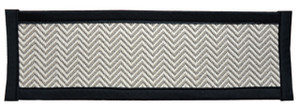 "Dean Non-Slip Tape Free Pet Friendly Dog Helper Stair Gripper Hatteras Flatweave Carpet Stair Treads - Chevron Beechwood/Black 29""W (15)"