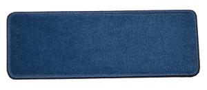 "Dean Premium Stair Gripper Non-Slip Tape Free Pet Friendly DIY Nylon Carpet Stair Treads/Rugs 23"" x 8"" (15) - Color: Sapphire Blue"