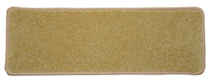 "Dean Non-Slip Tape Free Pet Friendly Stair Gripper DIY Carpet Stair Treads/Rugs 27"" x 9"" (15) - Color: Camel Plush, American Made Top Quality"