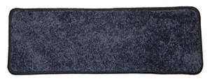 """Dean Non-Slip Tape Free Pet Friendly Stair Gripper DIY Carpet Stair Treads/Rugs 27"""" x 9"""" (15) - Color: Onyx Black Plush, American Made Top Quality"""