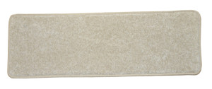 "Dean Non-Slip Tape Free Pet Friendly Stair Gripper DIY Carpet Stair Treads/Rugs 27"" x 9"" (15) - Color: Fresco Beige Plush, American Made Top Quality"