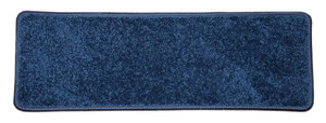 "Dean Non-Slip Tape Free Pet Friendly Stair Gripper DIY Carpet Stair Treads/Rugs 27"" x 9"" (15) - Color: Navy Blue Plush, American Made Top Quality"