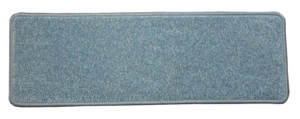"""Dean Non-Slip Tape Free Pet Friendly Stair Gripper DIY Carpet Stair Treads/Rugs 27"""" x 9"""" (15) - Color: Sky Blue Plush, American Made Top Quality"""