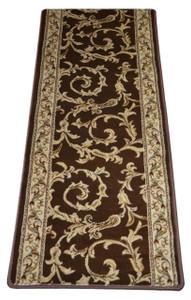 Dean Brown Scrollwork II Premium Carpet Rug Hallway Runner 26 Inches Wide by 5 Feet Long