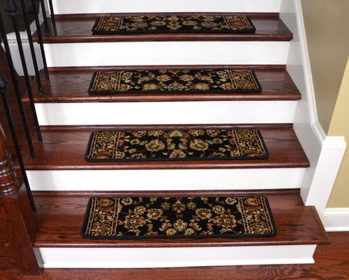 Keshan Ebony Non Slip Carpet Stair Treads 31 Quot X 9 Quot