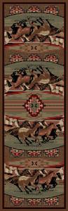"Dean Mesa Verde Lodge Cabin Western Ranch Horse Runner Rug 2'3"" x 7'7"""