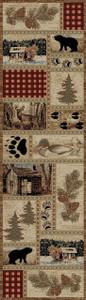"Dean Get Away Trail Bear Lodge Cabin Bear Carpet Runner Rug Size: 2'3"" x 7'7"""