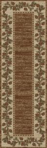 "Dean Mountain View Brown Lodge Cabin Pine Cone Carpet Runner Rug Size: 2'3"" x 7'7"""