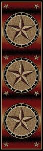 "Dean Amarillo Rust Lodge Cabin Ranch Western Star Carpet Runner Rug 2'3"" x 7'7"""