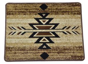 "Dean Non-Skid Pet Friendly Santa Fe Beige Southwestern Lodge Cabin Carpet Rug Runner Mat, Size: Approximately 31"" x 24"""