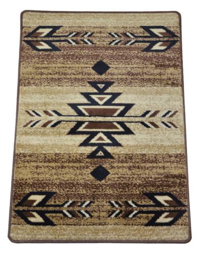 Dean Santa Fe Beige Southwestern Lodge Cabin Carpet Rug