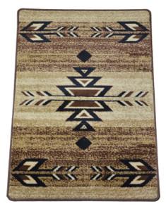 "Dean Non-Skid Pet Friendly Santa Fe Beige Southwestern Lodge Cabin Carpet Rug Runner Mat, Size: Approximately 31"" x 44"""