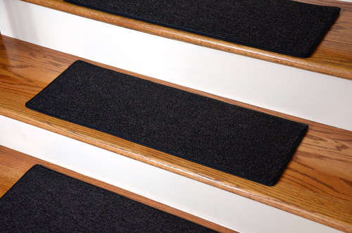 13 Diy Carpet Stair Treads 27 In By 9 In Black