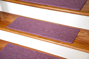 "Dean Carpet Stair Treads 27"" x 9"" - Rose - Set of 13"