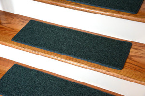"Dean DIY Carpet Stair Treads 27"" x 9"" - Hunter Green - Set of 13 Plus Double-Sided Tape"
