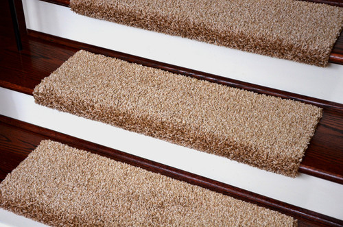 Dean Premium Pet Friendly Tape And Adhesive Free Non Slip Bullnose Carpet Stair  Treads   Safari Beige (3)