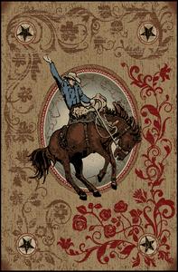 "Dean Boulder Rustic Southwestern Lodge Horse Cabin Ranch Area Rug Size: 5'3"" x 7'3"""