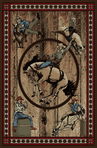 Horse Rodeo Area Rug