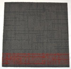 Dean DIY Carpet Tile Squares - Gray & Red Patterned - 48 SF Per Box -12 Pieces Per Box