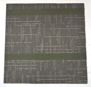 Dean DIY Carpet Tile Squares - Gray & Green Patterned - 48 SF Per Box -12 Pieces Per Box