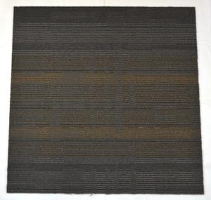 Dean DIY Carpet Tile Squares - Gray & Beige Patterned - 48 SF Per Box -12 Pieces Per Box