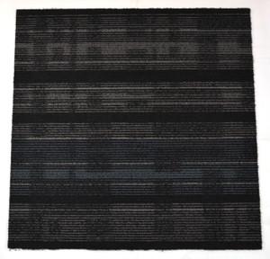 Dean DIY Carpet Tile Squares - Modern Black & Gray Patterned - 48 SF Per Box -12 Pieces Per Box