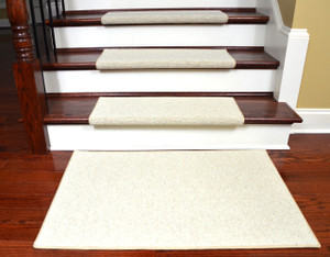 Dean Premium Pet Friendly Tape And Adhesive Free Non Slip Bullnose Wool  Carpet Stair Treads