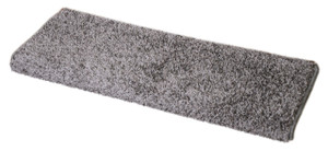 "Dean Modern DIY Peel and Stick Bullnose Wraparound Non-Skid Carpet Stair Treads - Eiffel Tower Gray 30""W (15)"