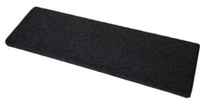 Dean Pet Friendly DIY Tape and Adhesive Free Non-Slip Bullnose Carpet Stair Treads - Black (Set of 3)