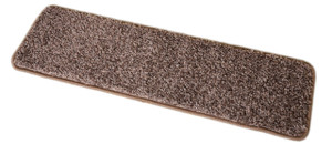 Dean Washable Non-Slip Carpet Stair Treads - Fresh Coffee Brown - Set of 15 Pieces, 27 Inches by 9 Inches Each