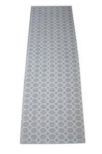 Dean Pet Friendly Silverado Gray Stainmaster Nylon 2' x 6' Bound Carpet Mat/Runner Rug