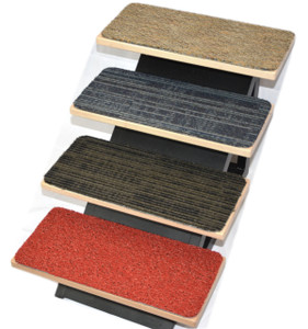 """Dean Affordable DIY Non-Skid Carpet Dog Step Stair Treads (Set of 4) 18"""" x 8"""" - Color: Mosaic (Steps Not Included)"""