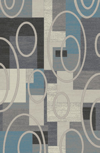 "Dean Broadway Gray Modern Area Rug 5'3"" x 7'7"" (5x8)"