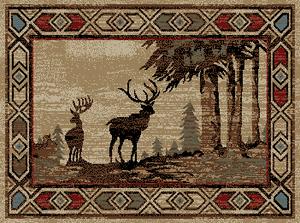 "Dean Deer River Lodge Cabin Area Rug 5'3"" x 7'3"" (5x8)"