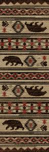 """Dean Fort Mountain Lodge Cabin Bear Western Ranch Runner Rug 2'3"""" x 7'7"""""""