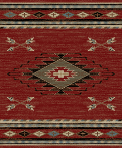 "Dean Arrowhead Red Lodge Cabin Southwestern Area Rug 5'3"" x 7'3"" (5x8)"