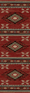 "Dean Arrowhead Red Lodge Cabin Western Ranch Runner Rug 2'3"" x 7'7"""