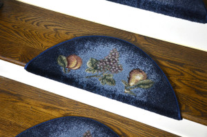 Dean Premium Pet Friendly Tape and Adhesive Free Non-Slip Bullnose Premium Nylon Carpet Stair Treads - Blue Fruit (3)