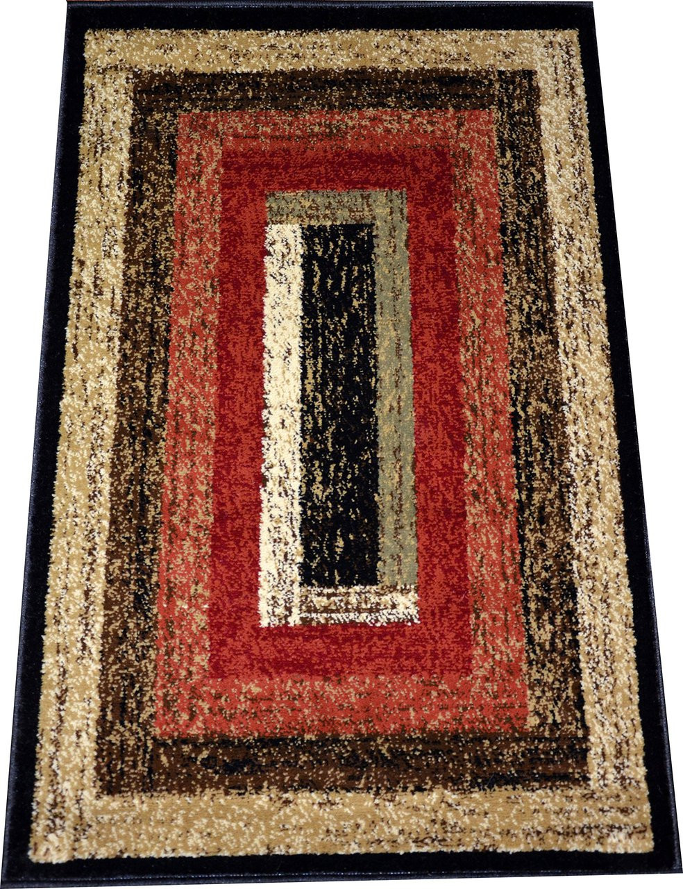 Dean Rustic Panel Lodge Cabin Ranch Southwestern Area Rug