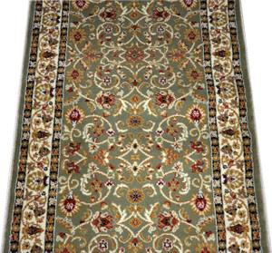Dean Classic Keshan Sage Green Custom Length Carpet Rug Runner - Purchase by the Linear Foot