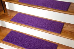 "Dean Ultra Premium Stair Gripper Non-Slip Tape Free Pet Friendly DIY Carpet Stair Treads/Rugs 30"" x 9"" (15) - Color: Grape Purple"