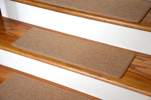 "Dean DIY Carpet Stair Treads 23"" x 8"" - Gold - Set of 13 Plus Double-Sided Tape"