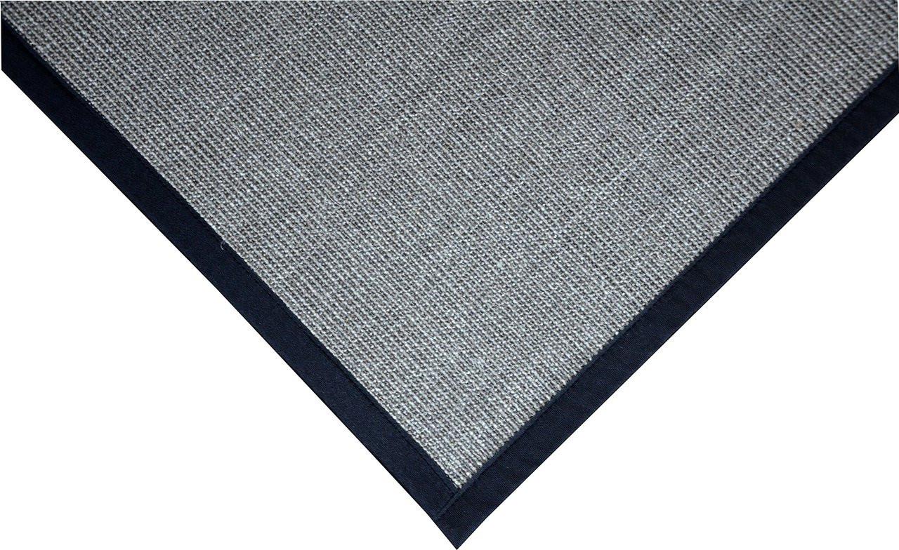 Natural Sisal Foyer Rug Grey Black Dean Flooring Co