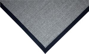 """Dean Island Gray/Black Natural Sisal Hall/Entrance/Landing Slip Resistant Carpet Runner Rug 29""""x8'"""