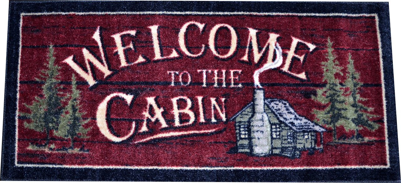 Washable Non Slip Quot Welcome To The Cabin Quot Kitchen Door
