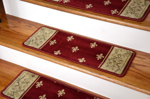 Premium Carpet Stair Treads - Regal Red - 13 Pack