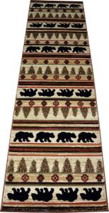 """Dean Appalachian Bear Lodge Cabin Bear Carpet Runner Rug Size: 2'3"""" x 7'7"""""""