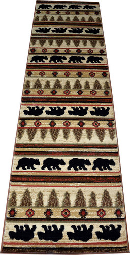 Dean Appalachian Bear Lodge Cabin Carpet Runner