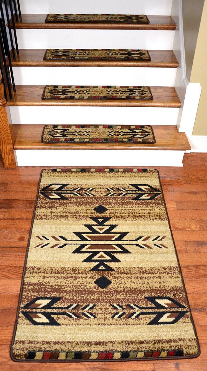 Dean Premium Carpet Stair Treads Santa Fe Beige 31 Quot X 9